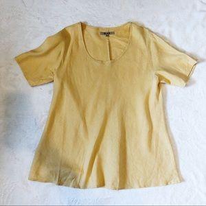 Flax | Linen Tunic Top sz L